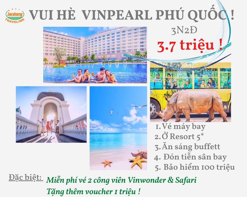 Nghỉ dưỡng 5* Vinpearl Phú Quốc - 3 ngày